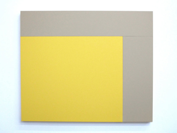 B1 (Oyster, Primrose Yellow), 2013, Acrylic house paint on panels