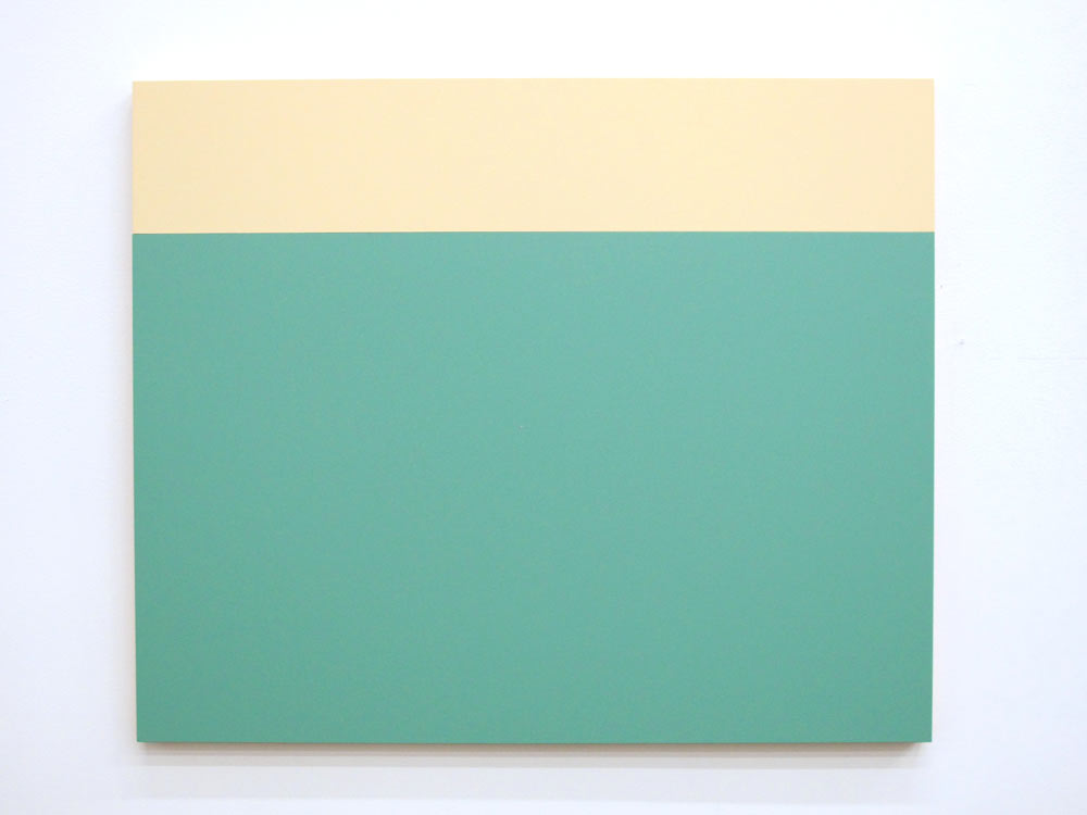 B2 (Cream, Tamorae), 2013, Acrylic house paint on panels
