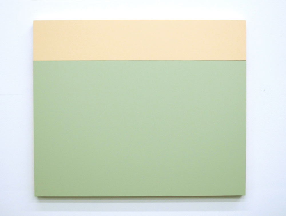 B3 (Cream, Aspen), 2013, Acrylic house paint on panels