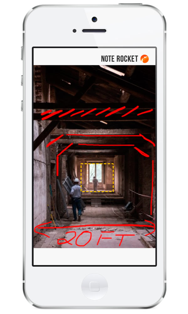 Send Annotated Pics + Audio with Note Rocket in technology sponsor main  Category