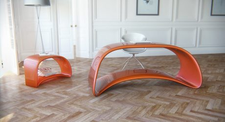 Nuvska Table & Drawer Unit by Nuvist Architecture & Design