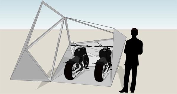 The Coolest Modern Motorcycle Shed Ever - Design Milk
