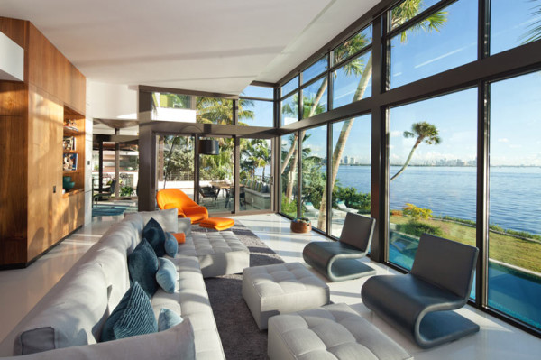 Glass Front Residence on the Water in Coral Gables - Design Milk