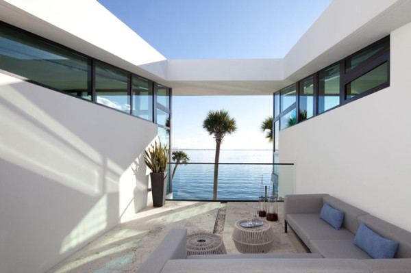 Glass Front Residence on the Water in Coral Gables in main architecture  Category