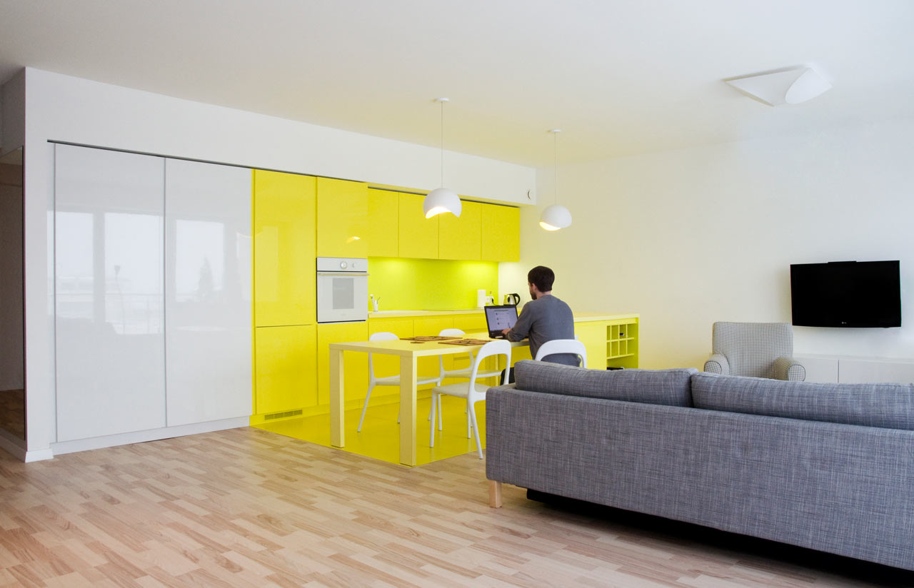 Cheerful apartment in krakow by pera studio design milk for Designer apartment krakow