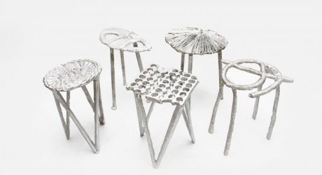 Aluminum Cans Become Stools by Studio Swine