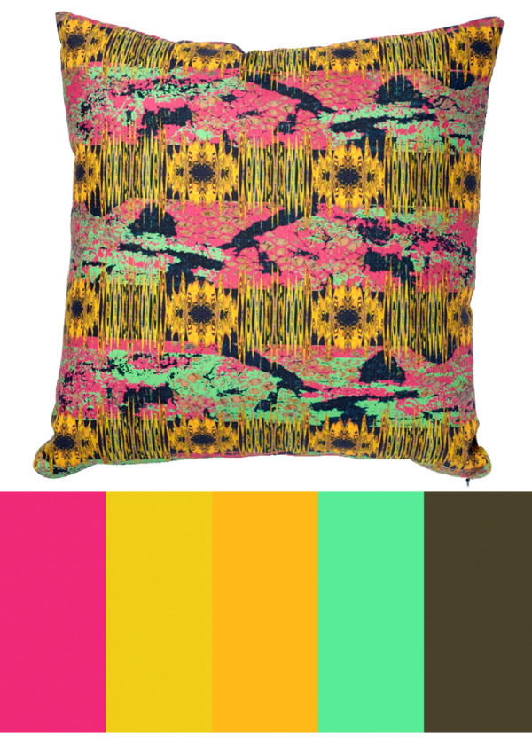 CMYLK: Ceil Diskins Abstract Pillows in main home furnishings art  Category