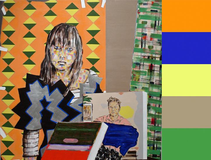 Matthew Bourbon's Collage-Like Portraits