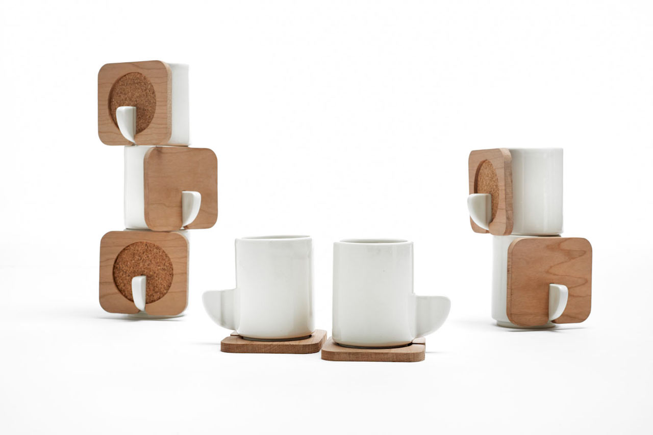 fin stacking tea cups by hsin lin  design milk - fin stacking tea cups by hsin lin
