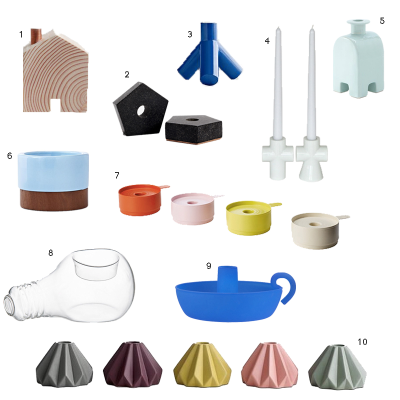 10 Mostly Colorful and Totally Affordable Candlestick Holders