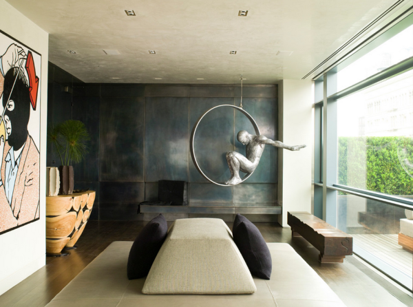 12 rooms that showcase sculpture design milk. Black Bedroom Furniture Sets. Home Design Ideas
