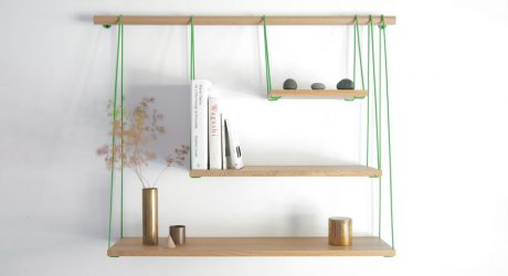 A Suspension Bridge-Inspired Shelving Unit
