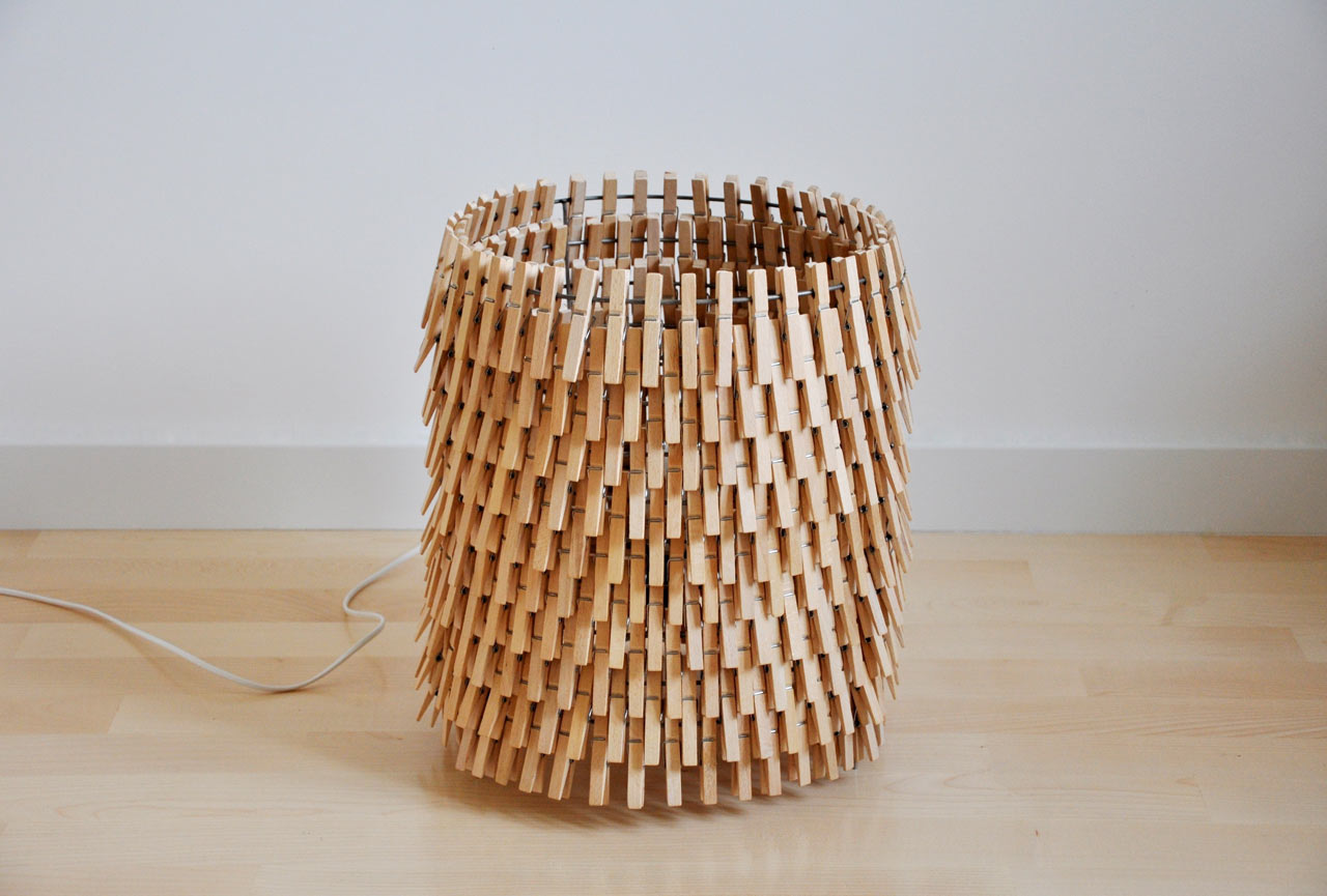 Lamps Made From Clothespins by Crea-re Studio