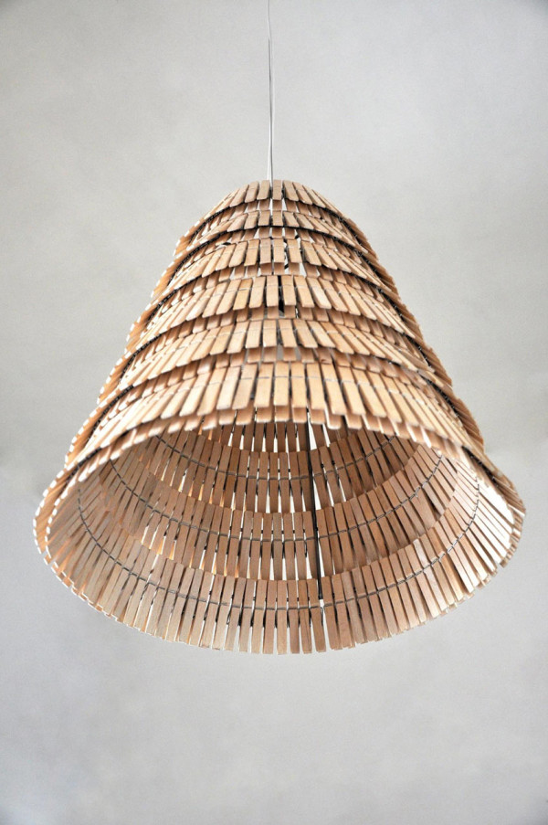 Lamps Made From Clothespins by Crea re Studio in main home furnishings  Category