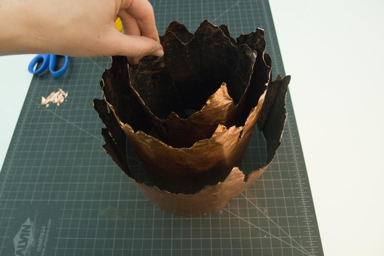 DIY Brutalist Sculptural Table Lamp