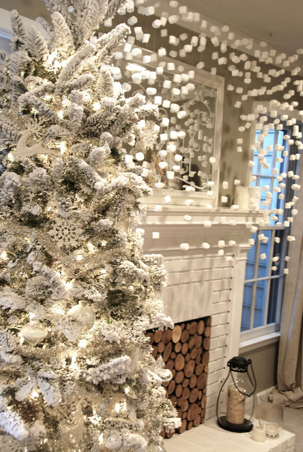 Good Modern Holiday Decorating Ideas Part - 12: Holiday-Decor-Marshmellow-Blue-Eyed-Yonder
