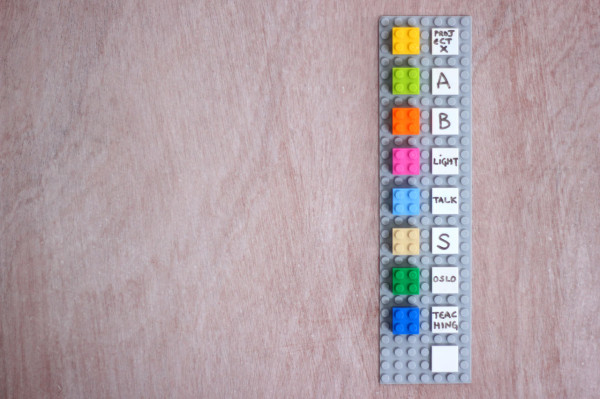A Wall Mounted Calendar Made From LEGO Bricks in technology style fashion main interior design art  Category