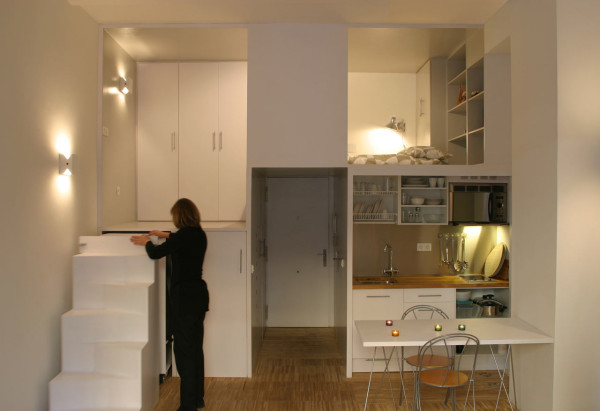 A Small Office Becomes a Private Apartment in main interior design architecture  Category