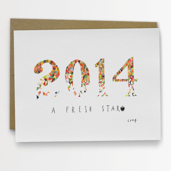 14 Cards To Wish Someone A Happy New Year - Design Milk