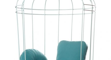 A Bird Cage-Like Swing by Ontwerpduo