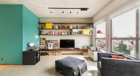An Open Apartment in Brazil Full of Raw Materials