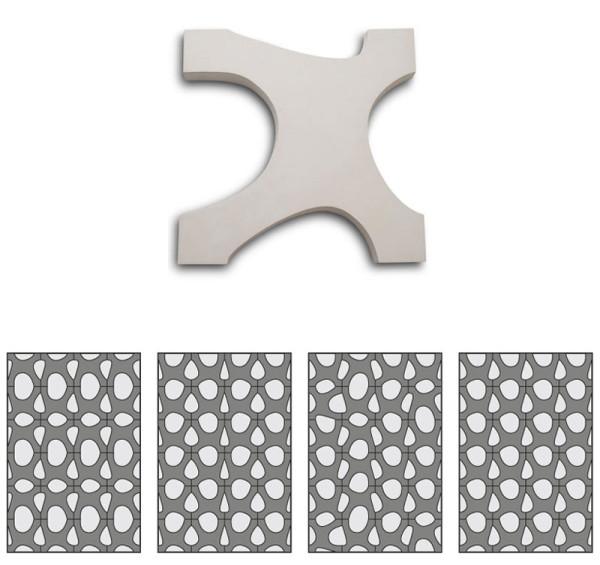 Asymmetrical Paving Tiles by Renata Rubim in main home furnishings  Category