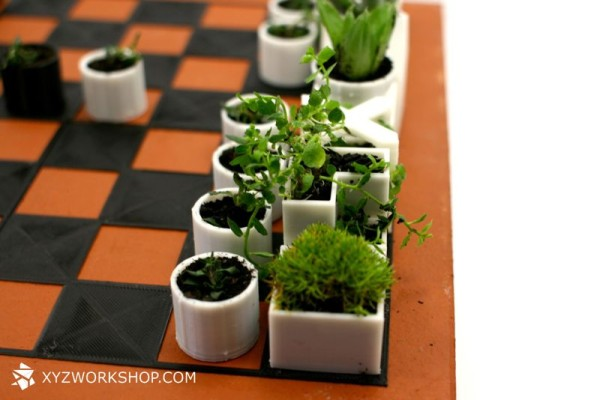 A 3D Printed Chess Set Thats Also a Micro Planter in style fashion main home furnishings  Category