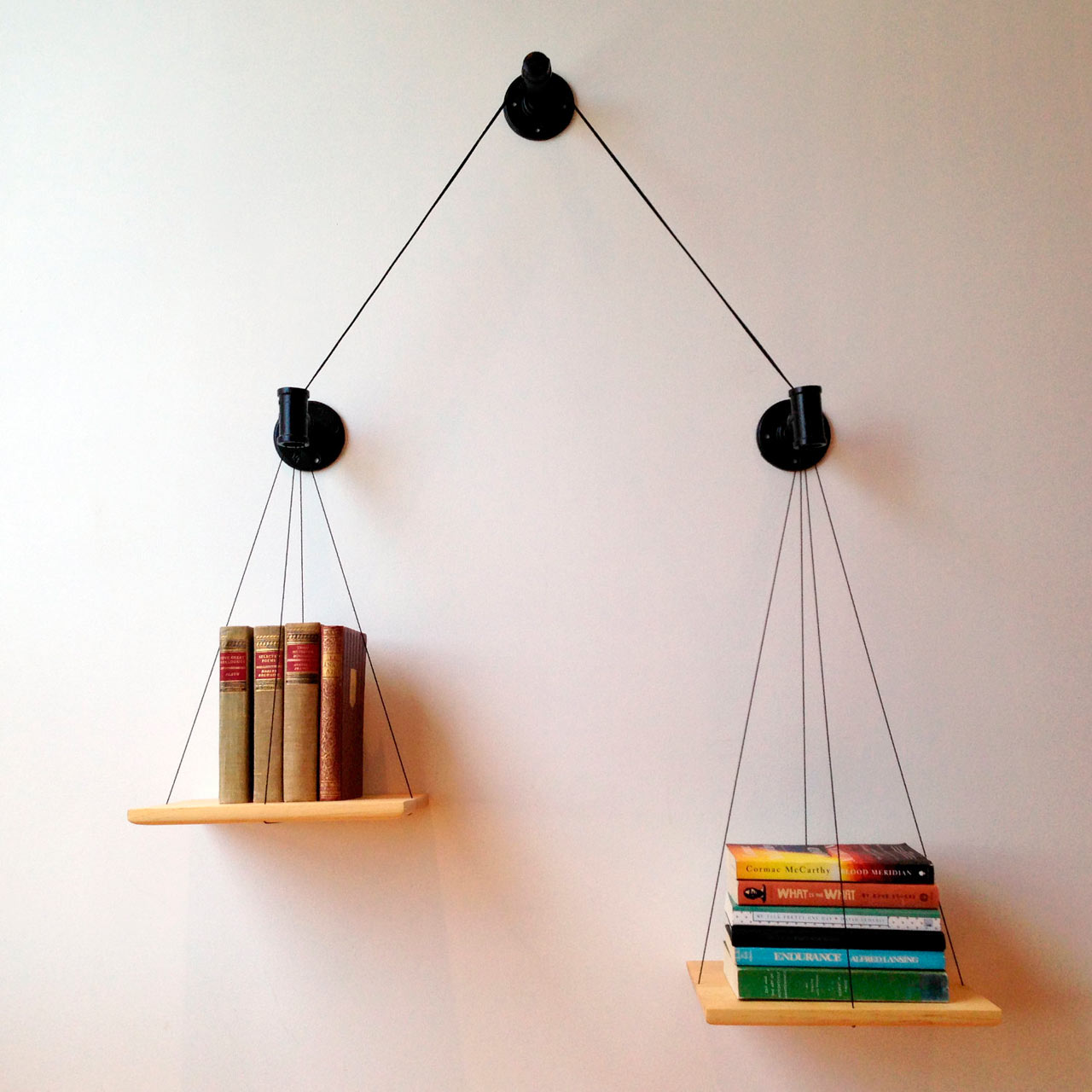 Show Off How Many Books You've Read with this Balancing Bookshelf