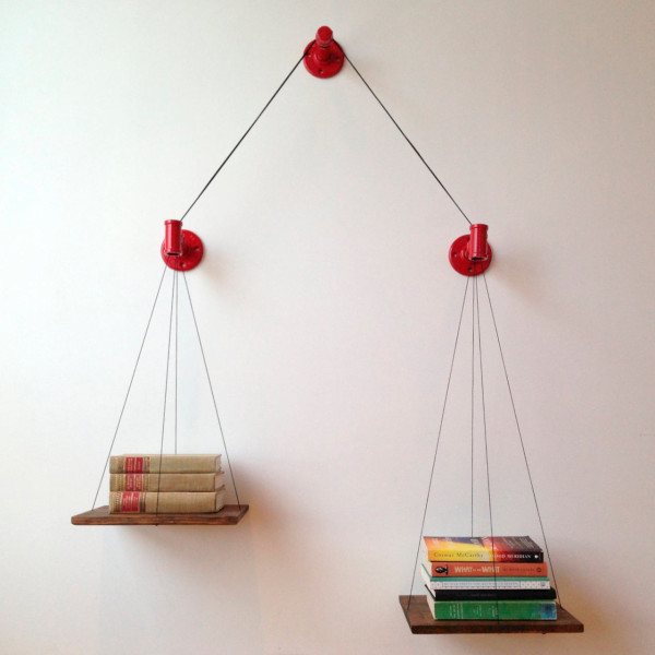 Show Off How Many Books Youve Read with this Balancing Bookshelf in main home furnishings  Category