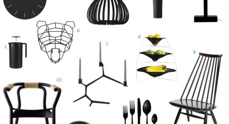 12 Bold Black Modern Home Furnishings