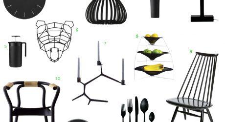 12 Bold Black Modern Home Furnishings