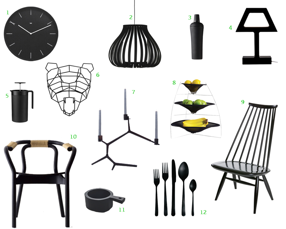 12 bold black modern home furnishings - Design Home Accessories