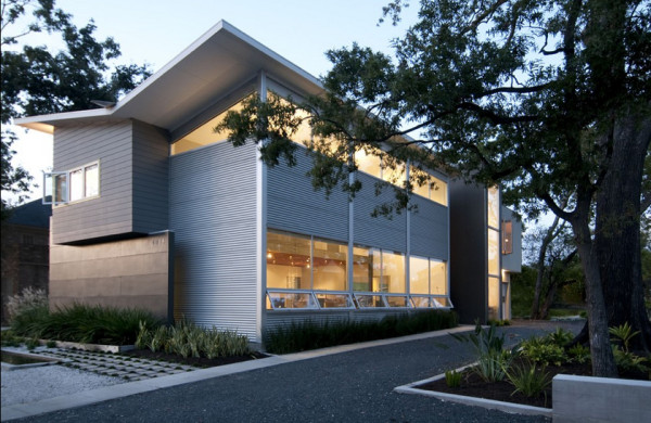 12 metal clad contemporary homes design milk for Contemporary homes houston