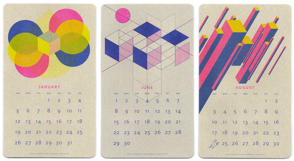 25 Modern Calendars For 2014 Design Milk
