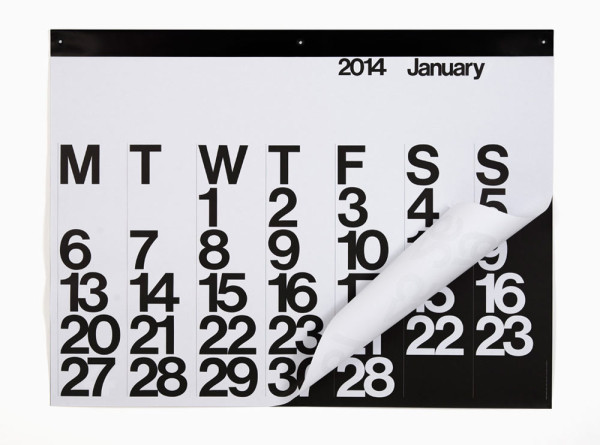 25 Modern Calendars for 2014 in style fashion main art  Category