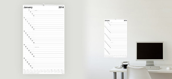 Minimalist Calendar Design : Modern calendars for design milk