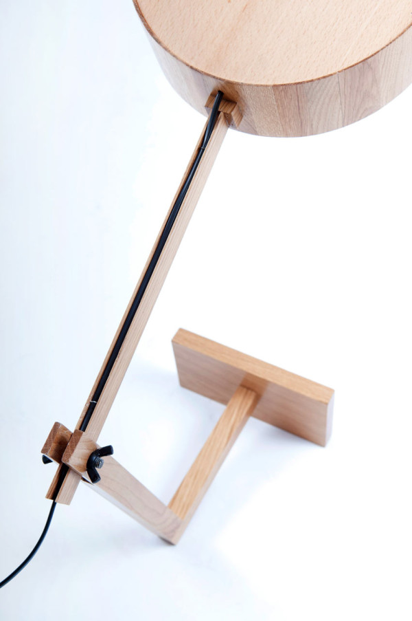 A Simple Wooden Lamp Named Bob in main home furnishings  Category