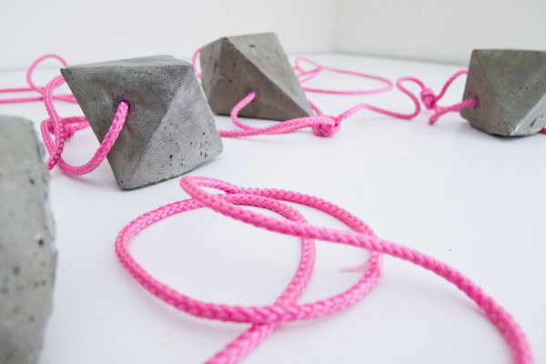 DIY Concrete Bauble Garland in style fashion main home furnishings art  Category