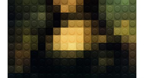Pixelated Masterpiece Paintings out of LEGO
