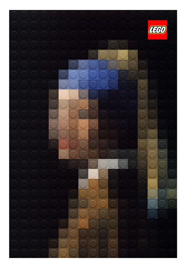 Pixelated Masterpiece Paintings out of LEGO in main art  Category