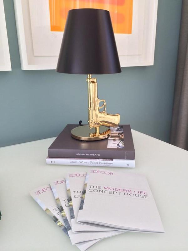 Gun lamp in the Elle Decor Modern Life Concept House