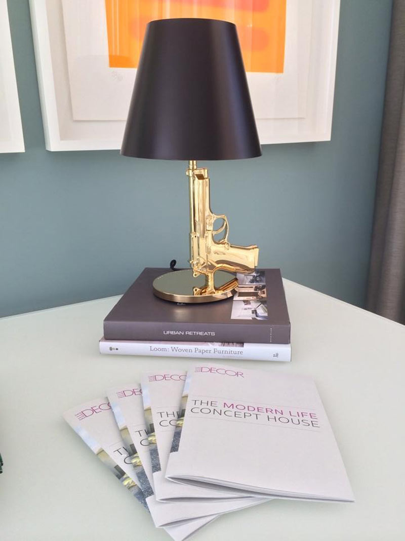 Gun lamp in the Elle Decor Modern Life Concept House