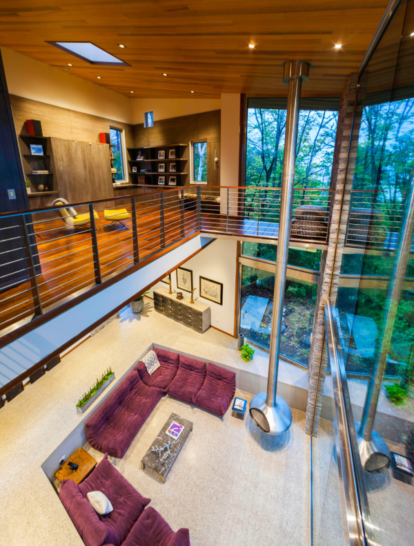 Sustainable Michigan Retreat Inspired by the Elements in main architecture  Category