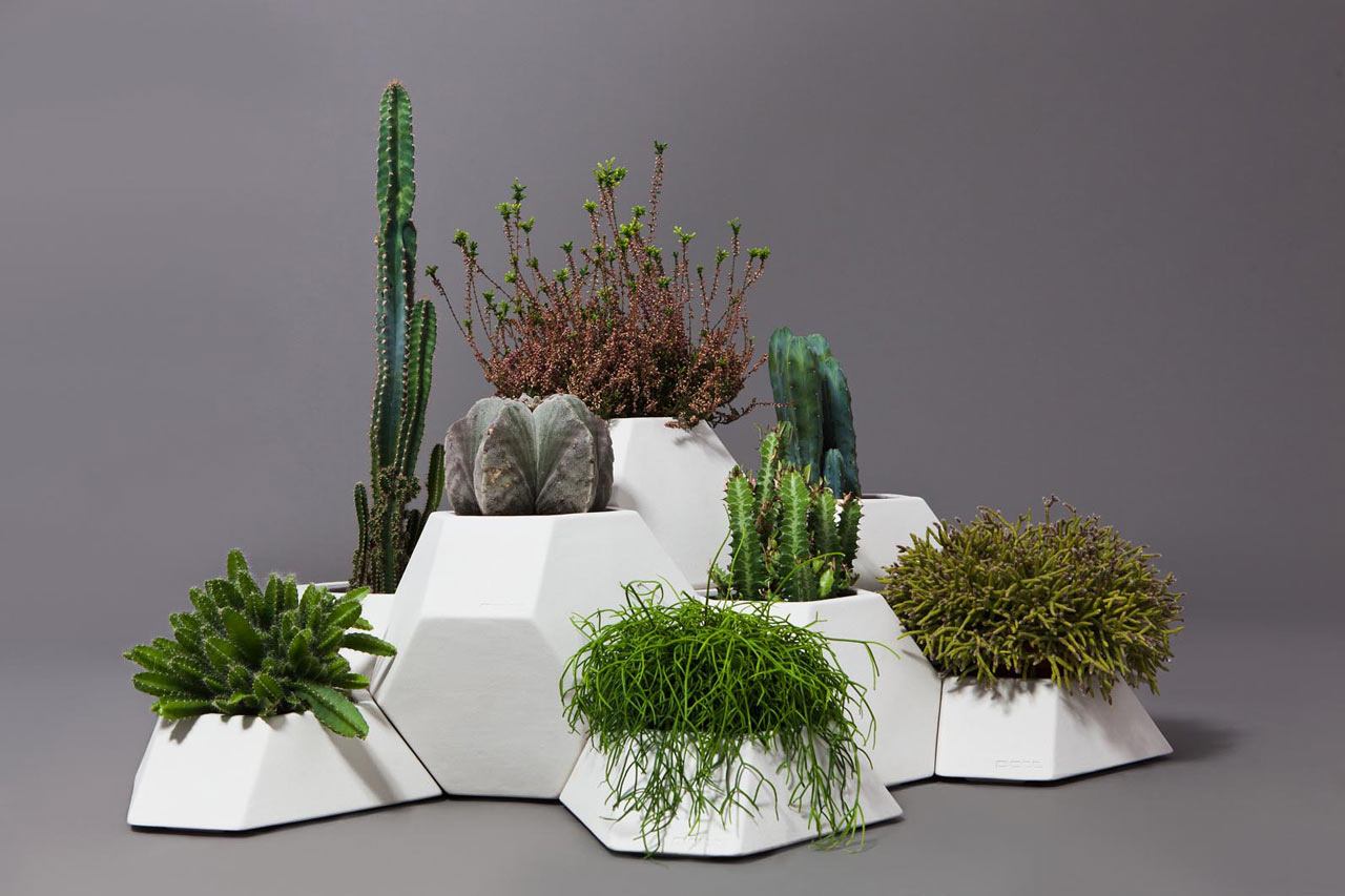Ma-ce-ta Modular Faceted Garden Pots by Pott
