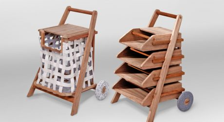 Mobile Carts for Reading Material and Laundry