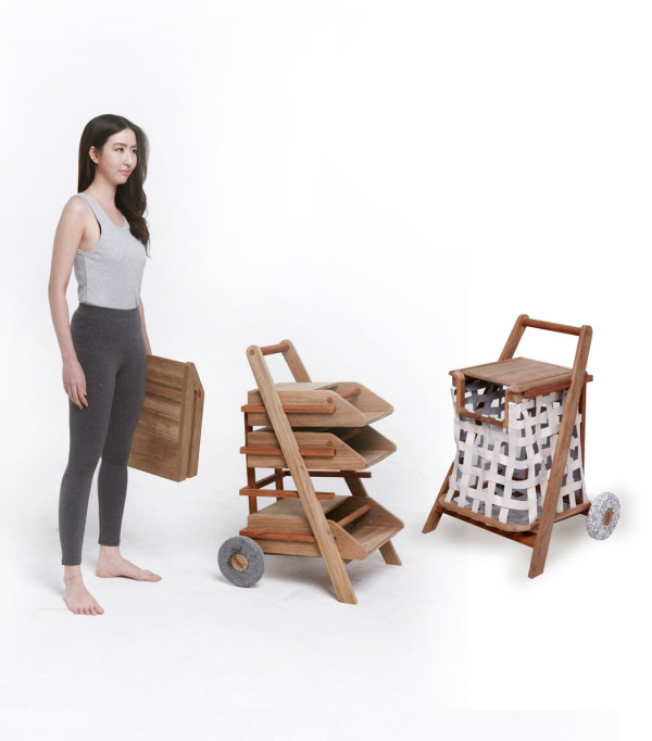 Mobile Carts for Reading Material and Laundry in main home furnishings  Category