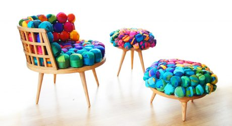 Cheery Recycled Silk Chairs From Meb Rure