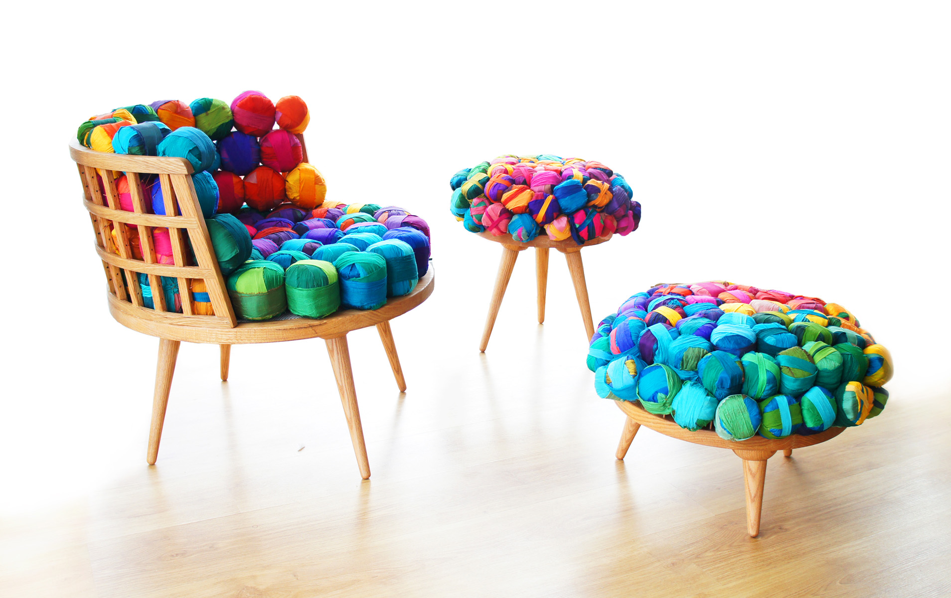 Cheery Recycled Silk Chairs From Meb Rure Design Milk