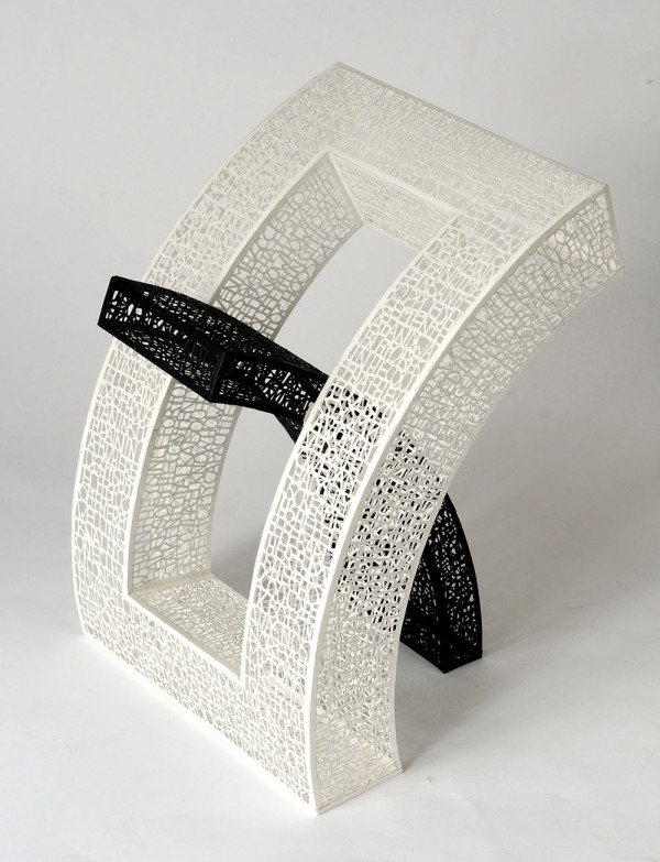 The Curved Book I, cut paper, 2011