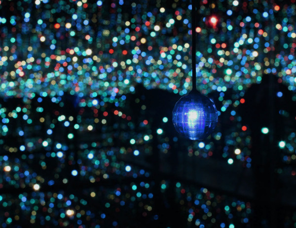"""Infinity Mirrored Room - The Souls of Millions of Light Years Away"" 2013 (detail)"